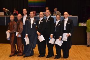 Ballroom A class men finalists