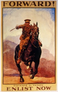 'Forward -  Enlist Now', poster, 1915, credit Bushey Museum & Art Gallery
