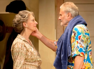 Elli (Maureen Lipman) and Billy (Oliver Cotton) in Daytona Photo Credit Johan Persson.