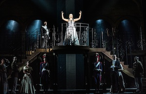 Evita at the Dominion Theatre London until 1 Nov - Madalena Alberto as Eva - photographer credit Darren Bell (2)