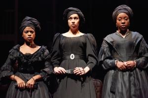 Ayesha Antoine (Agnes), Danusia Samal (Maude Lynn), Ronke Adekoluejo (Odette). by Mark Douet
