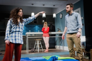 Bad Jews - Joshua Harmon - St James Theatre - 15 January 2015Directed by Michael LonghurstDesigned by Richard KentLighting designed by Richard HowellDaphna - Jenna AugenMelody - Gina BramhillJonah - Joe CoenLiam - Ilan Goodman