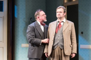 David Bamber as William R Chumley and James Dreyfus as Elwood P Dowd in Harvey. Photo by Manuel Harlan (2)