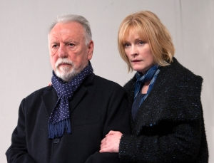 The Father at the Tricycle Theatre. Kenneth Cranham (Andre) and Claire Skinner (Anne). Photo credit Simon Annand (1)