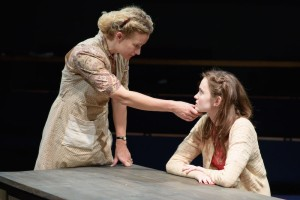 Lorraine Pilkington and Abigail Lawrie in When We Were Women - Orange Tree Theatre - photo by Ben Broomfield